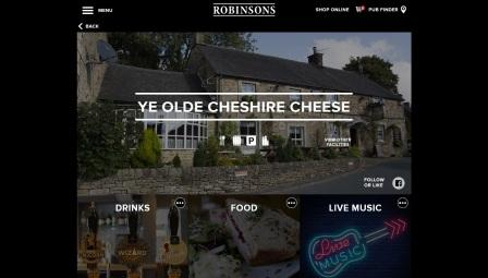 image of the Ye Olde Cheshire Cheese website